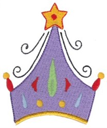 Star Crown embroidery design