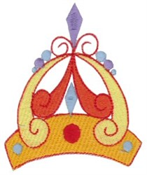 Curly Crown embroidery design