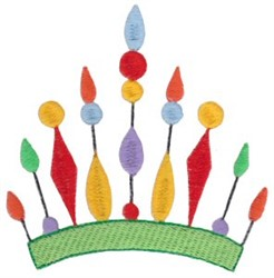 Spikey Crown embroidery design