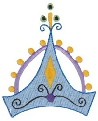 Blue Crown embroidery design