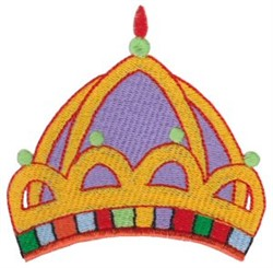 Dome Crown embroidery design