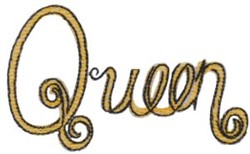 Queen embroidery design