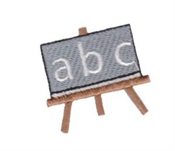 School Blackboard embroidery design