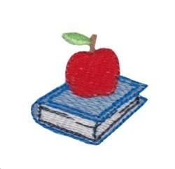 Apple & Book embroidery design