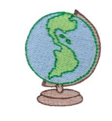 School Globe embroidery design