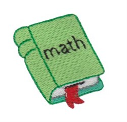 Math Book embroidery design