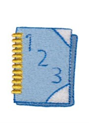 123 Book embroidery design