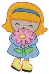 Girl & Flower embroidery design