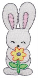 Bunny & Flower embroidery design