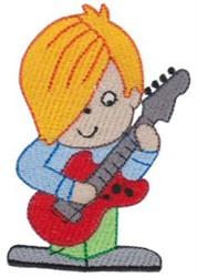 Guitar Boy embroidery design