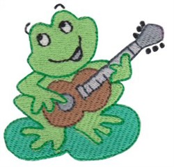 Guitar Frog embroidery design
