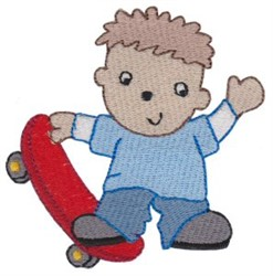 Skateboard Boy embroidery design