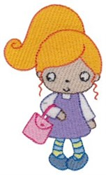 Blonde Girl embroidery design