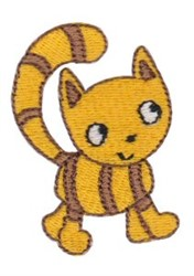 Stripped Cat embroidery design