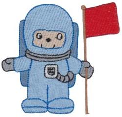 Astronaut embroidery design