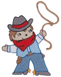Cowboy Boy embroidery design