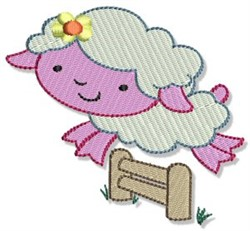 Farm Sheep embroidery design