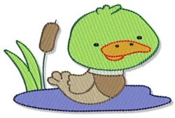 Mallard Duck embroidery design
