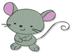 Grey Mouse embroidery design