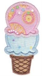 Applique Cone embroidery design