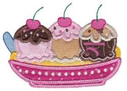 Applique Banana Split embroidery design