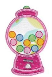 Applique Gumball Machine embroidery design