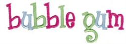 Bubble Gum embroidery design