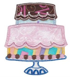 Applique Cake embroidery design