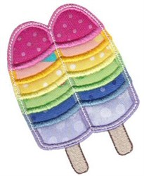 Applique Popsicle embroidery design
