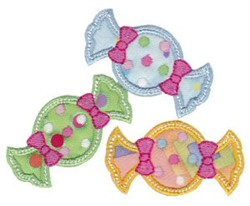 Applique Candy embroidery design
