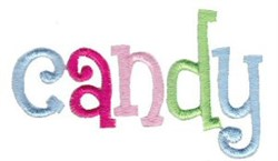 Candy embroidery design