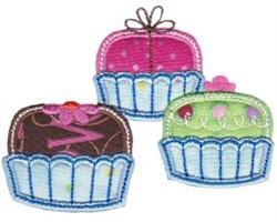 Applique Petit Fours embroidery design