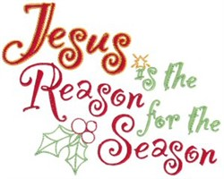 Jesus Is Reason embroidery design