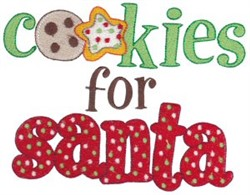 Cookies For Santa embroidery design