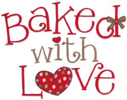 Baked With Love embroidery design