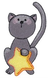 Star Cat embroidery design