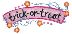 Trick-Or-Treat embroidery design