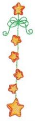 Star Garland embroidery design