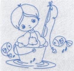 Fisherman Bluework embroidery design