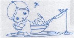 Little Fisherman Bluework embroidery design