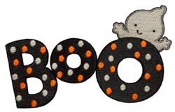 Boo! embroidery design