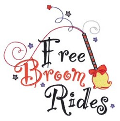 Free Broom Rides embroidery design