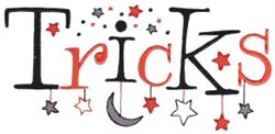 Halloween Tricks embroidery design