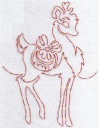 Redwork Reindeer & Ornament embroidery design