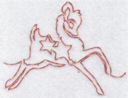 Festive Redwork Reindeer embroidery design