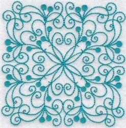 Bluework Quilt Block embroidery design