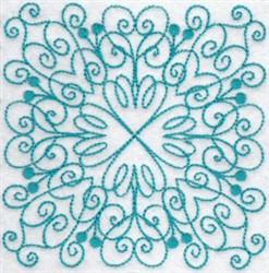 Decorative Bluework Quilt Block embroidery design