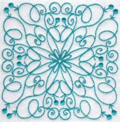 Swirly Bluework Quilt Block embroidery design