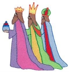 Nativity Three Wise Men embroidery design