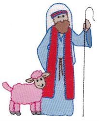 Nativity Shepherd embroidery design